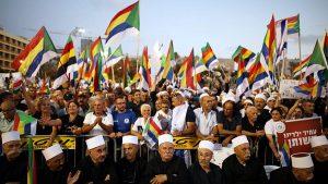 Israël : manifestation à Tel Aviv contre la loi sur «l'État nation du peuple juif» (Renouvelé)